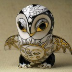 Little owl. Ceramic fantasy by Ukrainian artists Anna Stasenko and Slava Leontiev