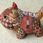 A kitten. Ceramic fantasy by Ukrainian artists Anna Stasenko and Slava Leontiev