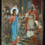 Christ and Caiaphas (artist N. Shahovskoy)