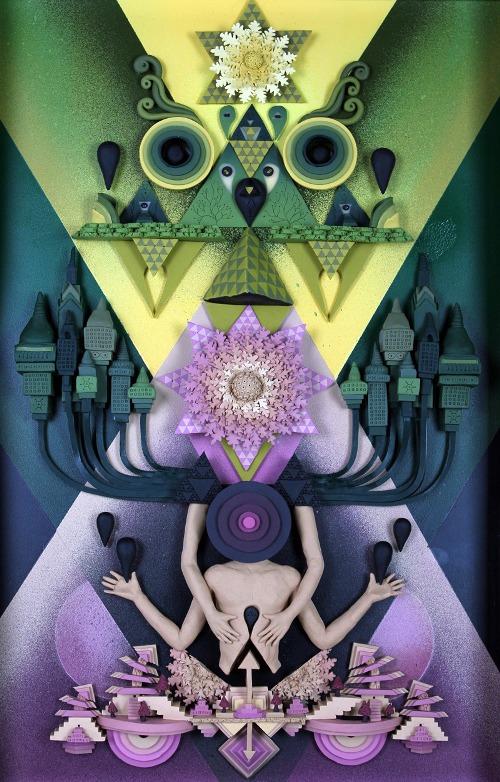Mind games. Clay art by American artist Meredith Dittmar