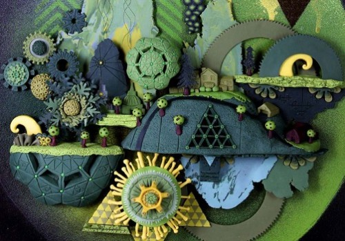 Colorful clay art by American artist Meredith Dittmar