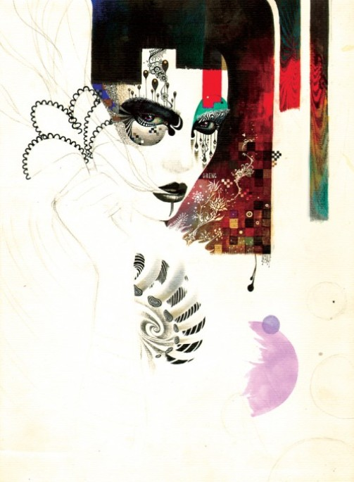 Behind the mask. Colorful Illustrations by South Korean artist Minjae Lee