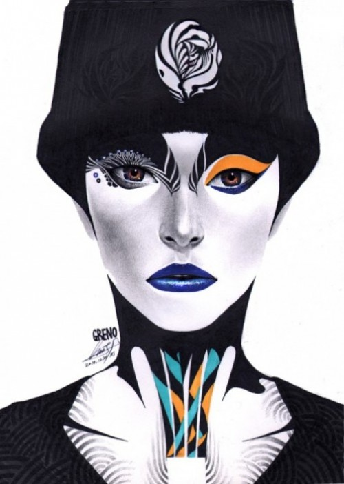 Fashionista. Colorful Illustrations by South Korean artist Minjae Lee