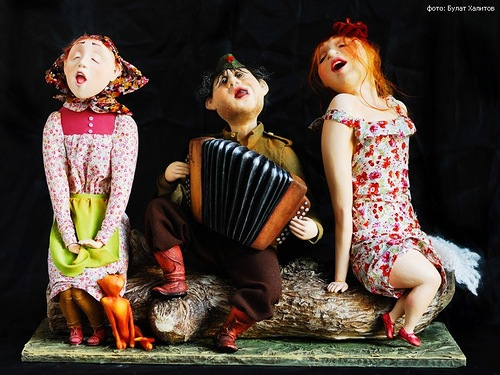 Handmade dolls by Russian artists of applied art, twin sisters Anna and Maria Kolegova