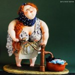 Handmade dolls by Russian artists of applied art, twin sisters Anna Grigorieva and Maria