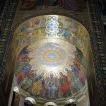 Work by artist V. Belyaev. Descent of the Holy Spirit upon the apostles
