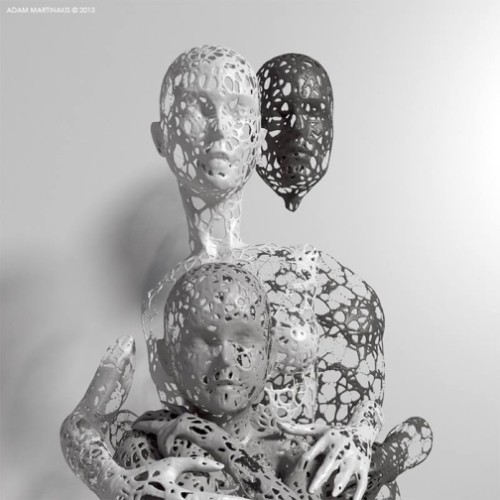 Family. Digital abstract art by Adam Martinakis