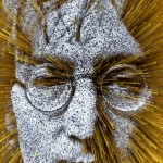 John Lennon. Digital abstract art by Adam Martinakis