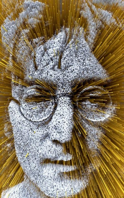 John Lennon. Digital abstract art by Adam Martinakis