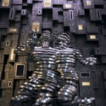 Male and female figures. Digital abstract art by Adam Martinakis