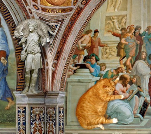 Somewhere in a church Fat cat Zarathustra in art