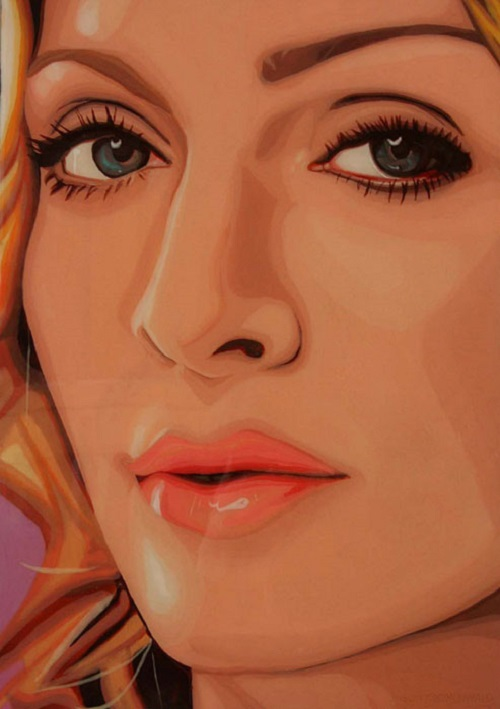 "Madonna. From the series of ""Gum Blondes"". Bubblegum portrait by Canadian artist Jason Kronenwald"