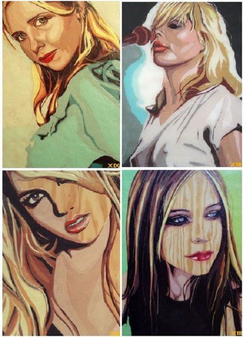 "Series of portraits ""Gum Blondes"". Bubblegum portrait by Canadian artist Jason Kronenwald"
