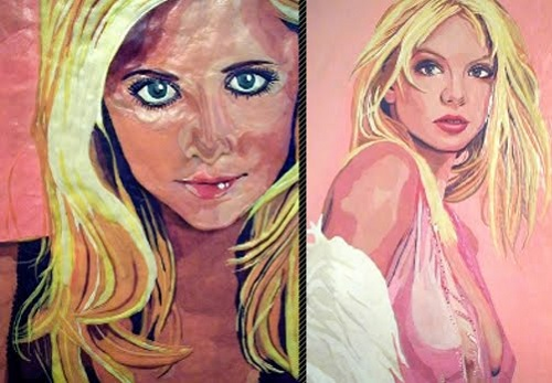 Bubblegum portraits created by Canadian artist Jason Kronenwald