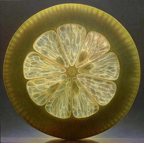 Citrus Hyper-realistic painting by American artist Dennis Wojtkiewicz