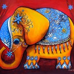 Circus elephant. Illustrations by Australian Artist Karin Taylor