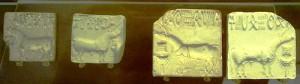 Indus valley seals showing 'unicorns' (British Museum)