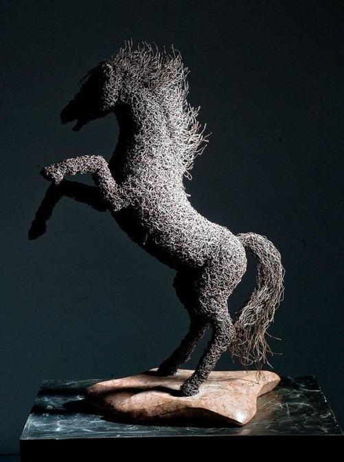 Iron sculptures by Italian artist Mattia Trotta