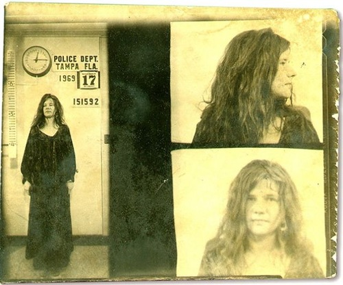 Janis Joplin, arrested On November 15, 1969 in Florida, on charges of disorderly conduct after she insulted a police officer