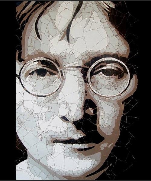 John Lennon. Mosaic portraits by Ed Chapman
