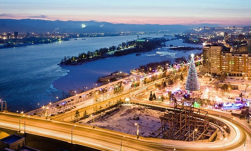 One of the largest cities in Siberia, Krasnoyarsk