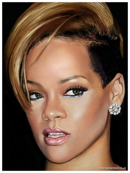 Celebrity Portraits created with iPad. English artist Kyle Lambert