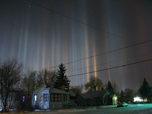 Light Pillars atmospheric beauty