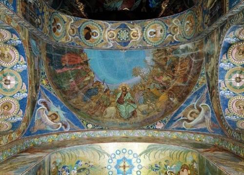 Log in Christ into Jerusalem (the artist V. Belyaev)
