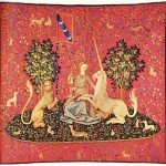 Maiden with Unicorn, tapestry, 15th century (Museum de Cluny, Paris)