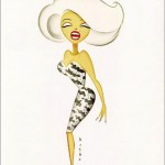 Marilyn Monroe from Something's Gotta Give. Caricatures of celebrities by American artist Robert Risko