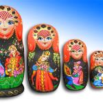 """The series """"Matryoshka from Mytishchi"""", painted by Russian artist of applied art Tatiana Ulyanova"""