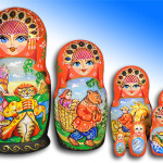 Characters of children's tales depicted on Matryoshka