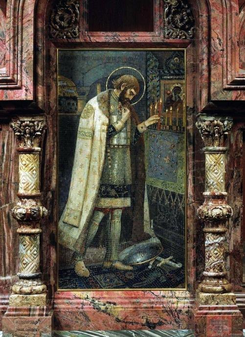 North wing. Saint prince Alexander Nevsky (artist Mikhail Nesterov)