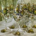 Golden autumn. Glassart fantasy - painting on glass by Russian artist of applied art Oksana Vasilyeva