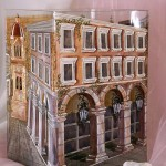 City architecture. Glassart fantasy by Russian artist of applied art Oksana Vasilyeva