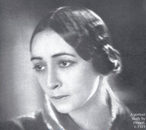 Portrait study by Hoppe. 1921. Russian ballerina Olga Spessivtseva