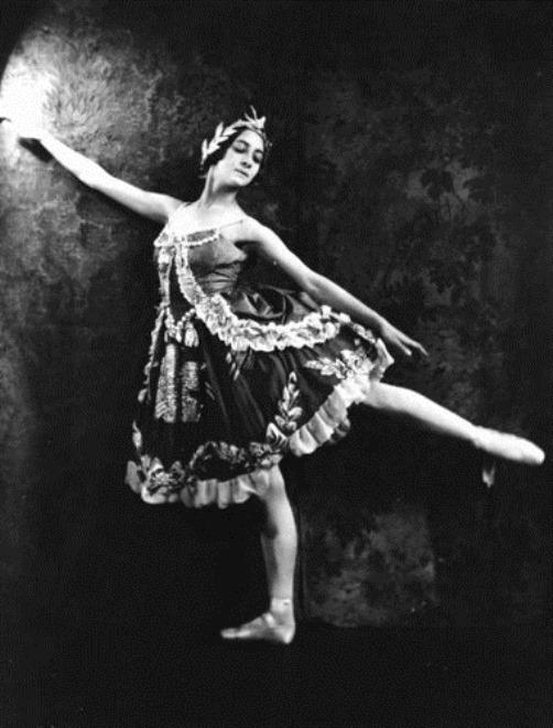 1922 photo from Life Magazine. Russian ballerina Olga Spessivtseva