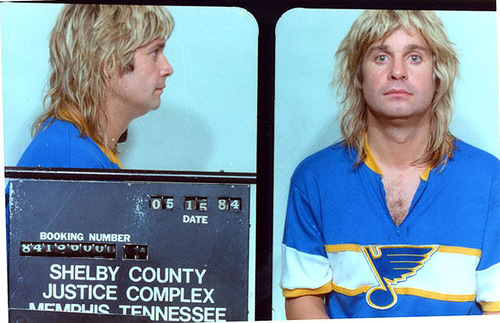 John Osbourne (aka Ozzy Osbourne) was arrested by Memphis cops in May 1984 and charged with public intoxication
