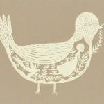 A bird. Paper art by American artist Elsa Mora