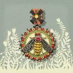 A bee. Beautiful Paper art by American artist Elsa Mora