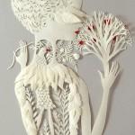 Intricate Paper art by American artist Elsa Mora