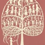 Tree of life. Paper art by American artist Elsa Mora