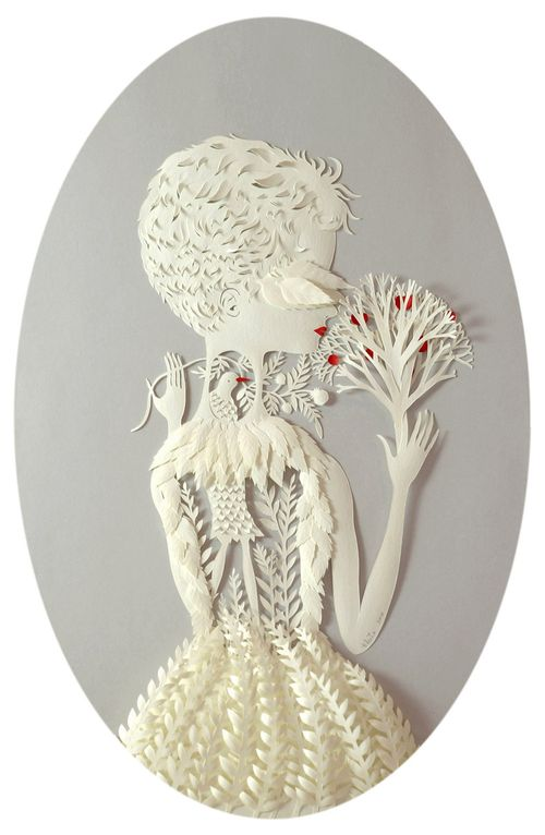 Beautiful Paper art by American artist Elsa Mora