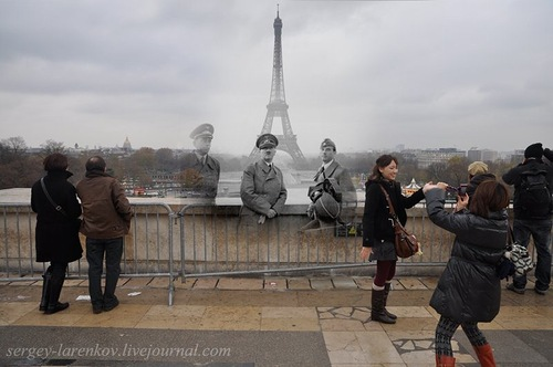 According to sources, Hitler could not climb the Eiffel Tower, as the elevators didn't work. Background of the Eiffel Tower – Paris 1940, 2010