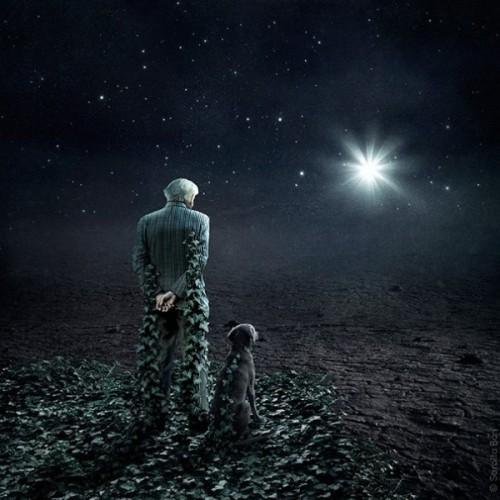 Light of a distant star. Photoart by Hungarian self-taught photographer Sarolta Ban