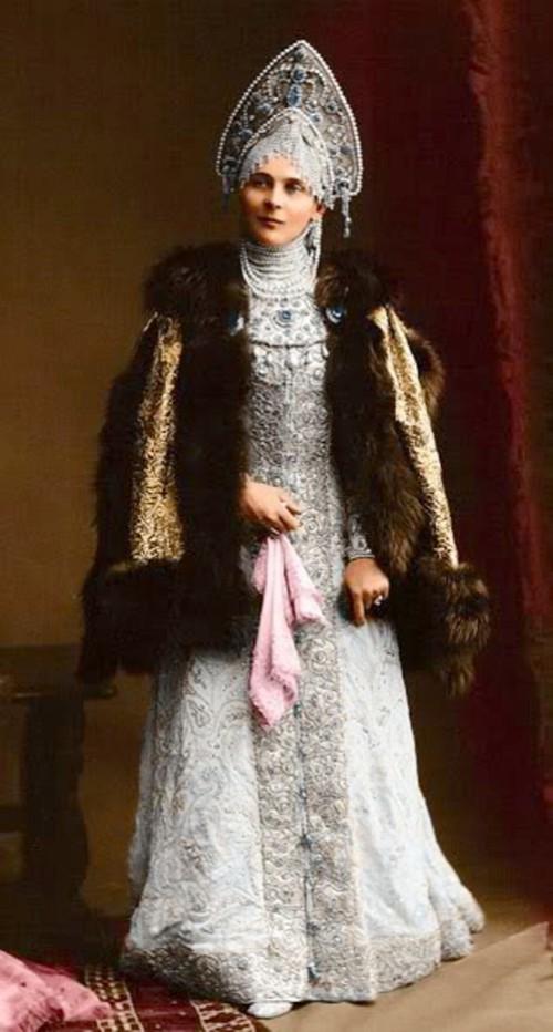 Princess Zinaida Nikolaevna Yusupova at a costume ball in 1903
