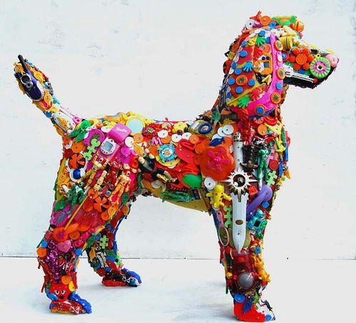Recycled Toy Sculptures by British artist Robert Bradford