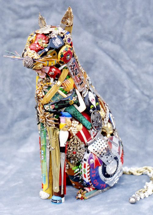 Sculpture made from recycled material by American junk sculptor James Leo Sewell