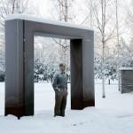 Surreal art installation by British sculptor Sean Henry