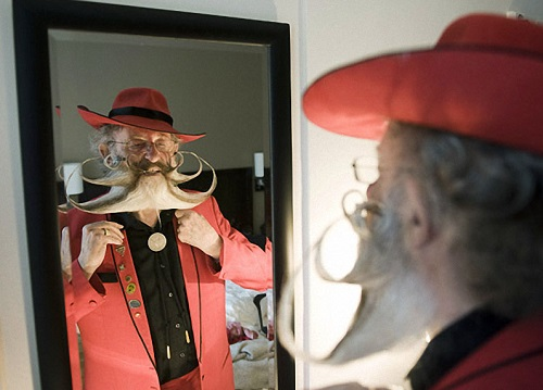 Mirror, mirror, tel me who has the coolest beard and moustache